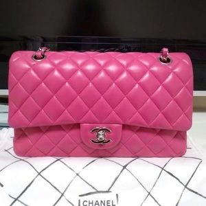 39abd2ca7b3 Chanel Classic Flap hot pink shoulder bag
